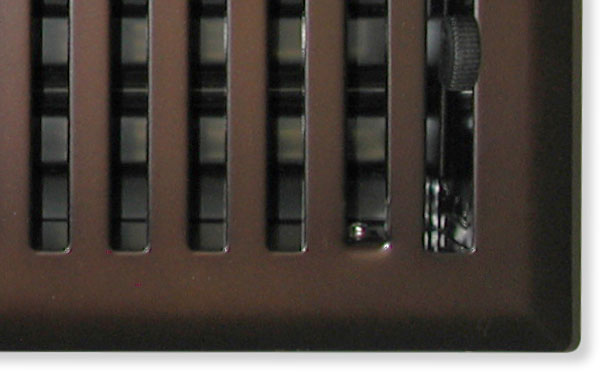 Mission Vent Cover In Oil Rubbed Bronze Closeup