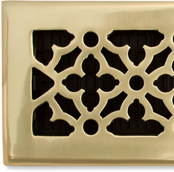 Traditional Polished Brass Vent Cover